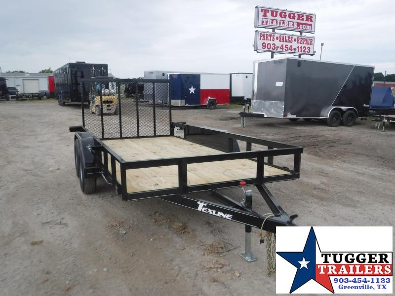 2020 TexLine 77x14 14ft Flatbed Landscape Equipment Work Open Utility Trailer
