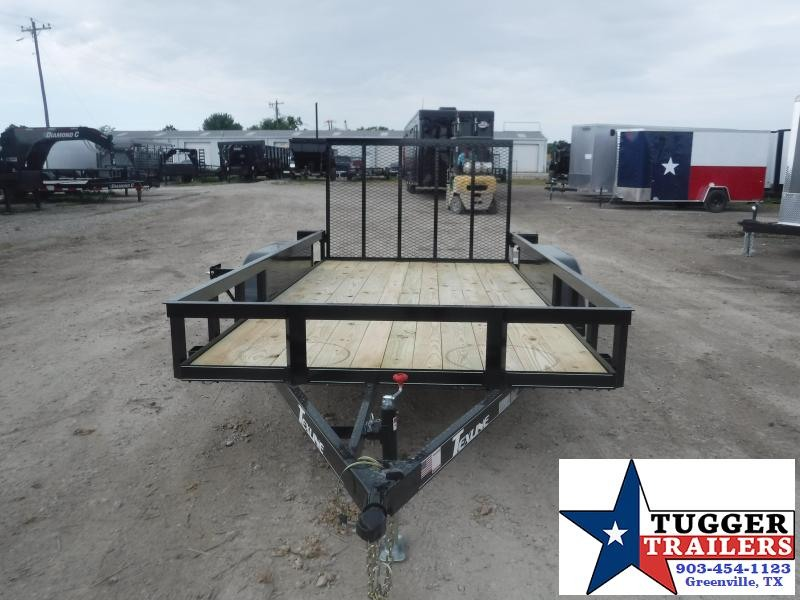 2020 TexLine 77x14 14ft Flatbed Landscape Equipment Work Open Utility Trailer