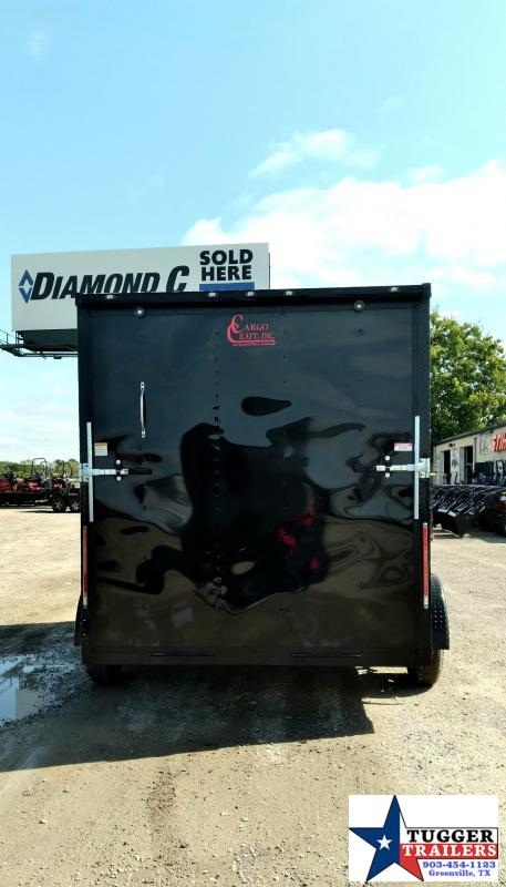 2021 Cargo Craft 7x12 12ft Elite V-Nose Black Out Utility Toy Side Enclosed Cargo Trailer