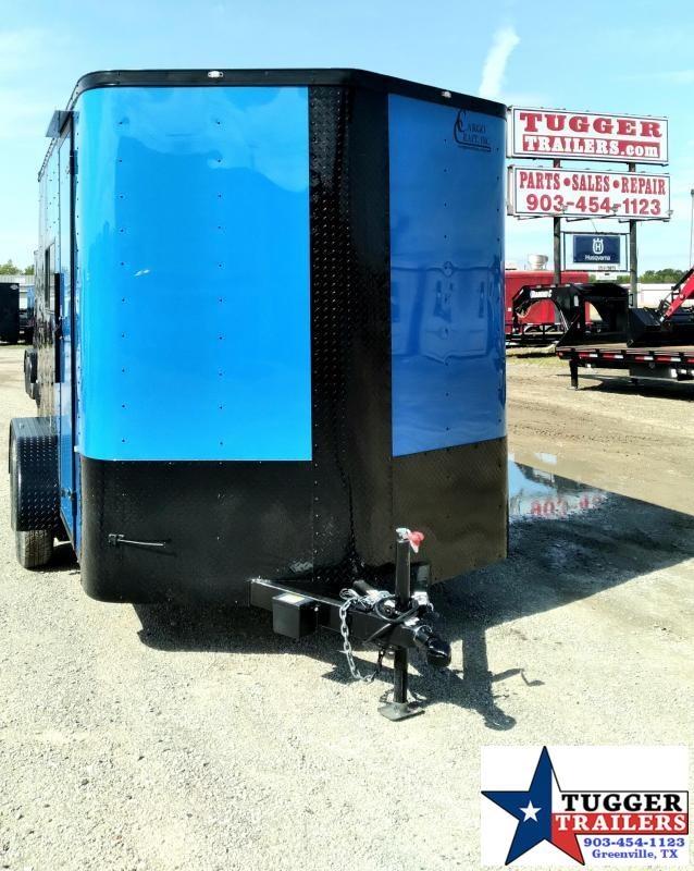 2021 Cargo Craft 7x12 12ft Elite V-Nose Black Out Utility Toy Side Enclosed Cargo Trailer