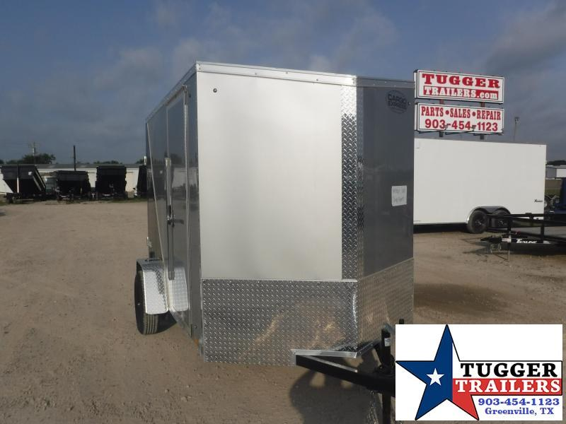 2021 Cargo Express 6x10 10ft Slope 2' V-Nose Utility Sport Band Move Enclosed Cargo Trailer