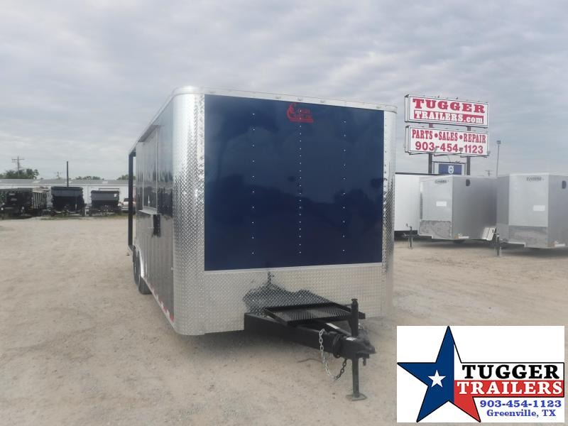 2020 Cargo Craft 8.5x24 24ft Food Street Ice BBQ Taco Sink Window Vending / Concession Trailer