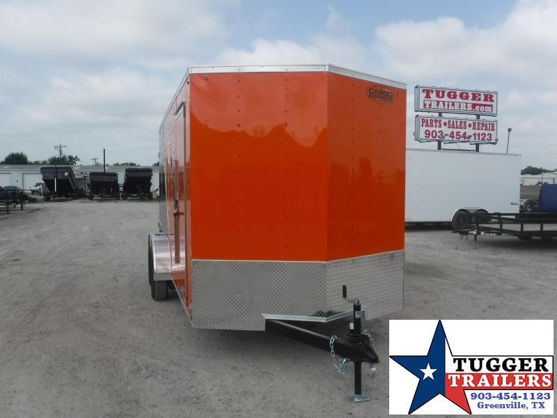 "2021 Cargo Express 7x16 16ft 18"" V-Nose Utility Toy Side Ramp ATV Enclosed Cargo Trailer"
