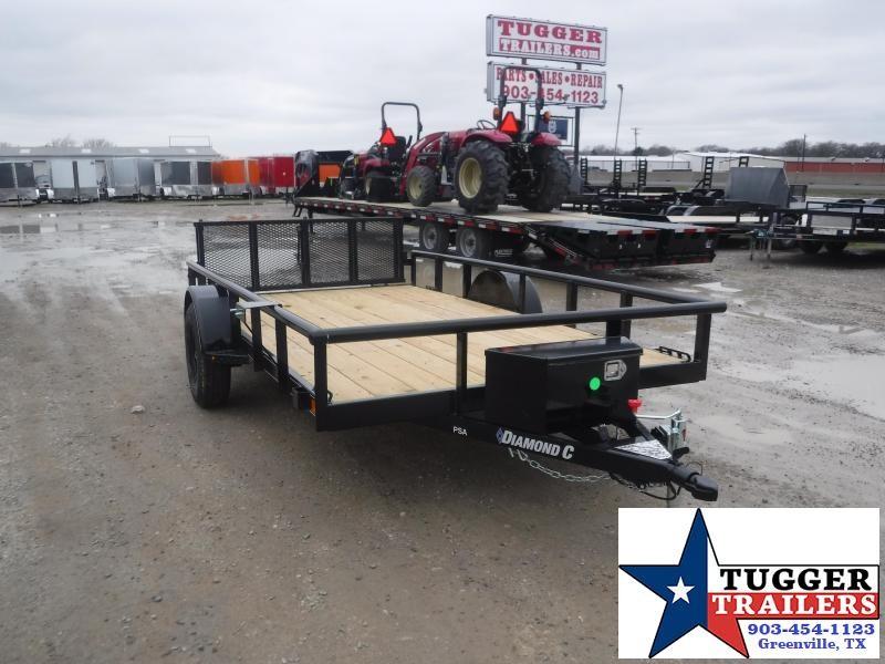 2021 Diamond C Trailers 77x12 12ft PSA Toy Side Work Tool Equipment Bike Utility Trailer