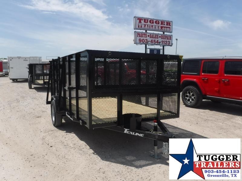 2021 TexLine 77x12 12ft Utility Cage Tool Equipment Mow Zero Landscape Trailer