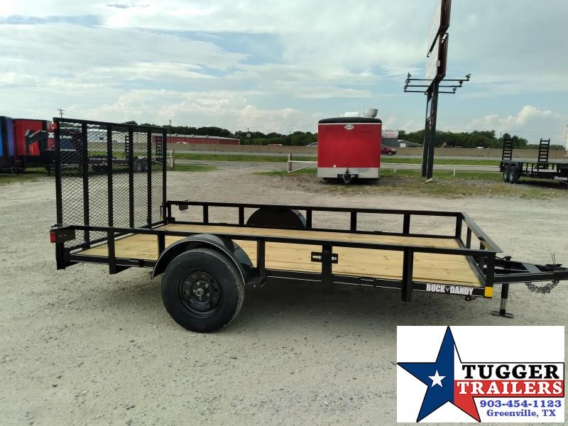 2020 Buck Dandy 77x12 12ft Open Flatbed Angle Top Toy Side Lawn Utility Trailer
