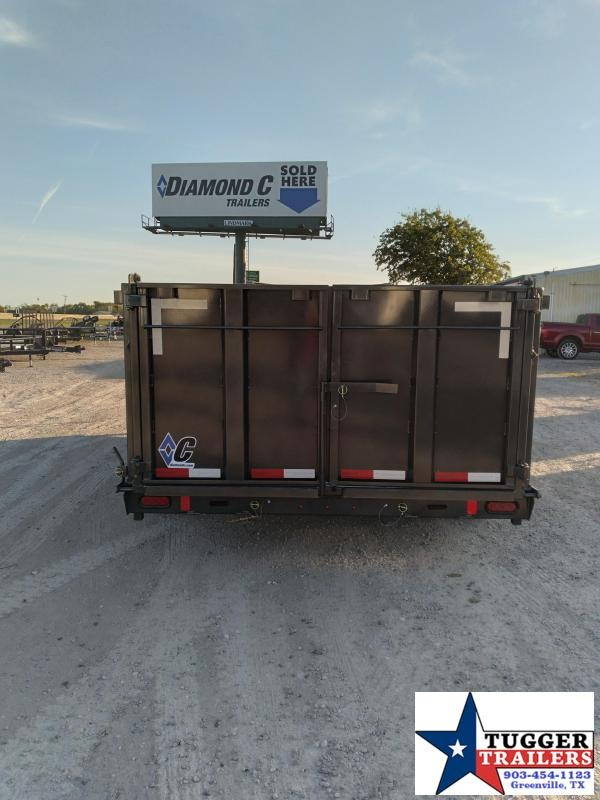 2021 Diamond C Trailers 82x16 16ft Gooseneck Steel Construction Farm LPD Dump Trailer