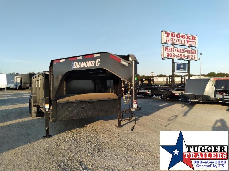 2021 Diamond C Trailers 82x16 16ft Gooseneck Steel Construction Farm LPD Dump Trailer