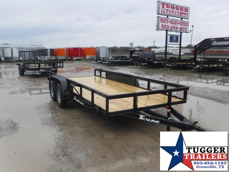 2021 TexLine 77x16 16ft Open Landscape Toy Side Four Move Hunt Utility Trailer