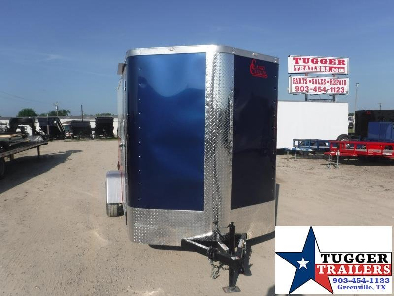 2020 Cargo Craft 6x12 12ft Elite Plus 2' V-Nose Texas Flag Utility Enclosed Cargo Trailer