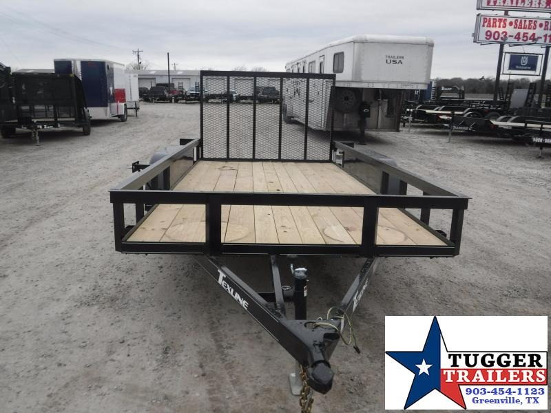 2021 TexLine 77x14 14ft Open Move Travel Work Toy Tool Lawn Utility Trailer