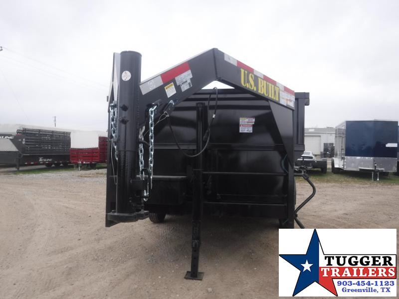 2021 Texas Pride Trailers 7x14 14ft Telescoping Gooseneck Steel Rock Work Dump Trailer