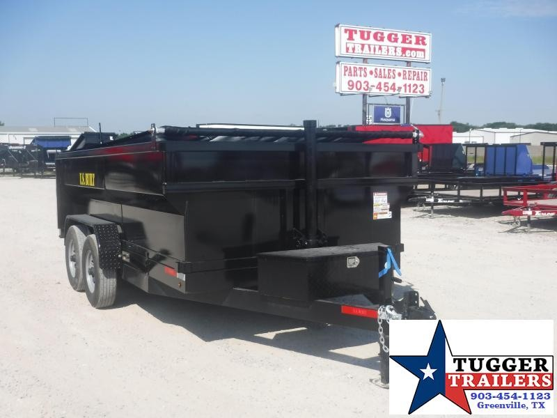 2020 Texas Pride Trailers 7x14 14ft Telescoping Steel Heavy Duty Work Lawn Dump Trailer