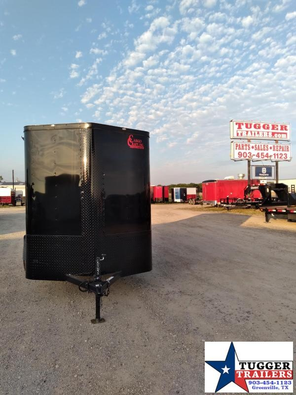 2020 Cargo Craft 6x10 10ft Elite V-Nose Black Out Utility Box Work Enclosed Cargo Trailer