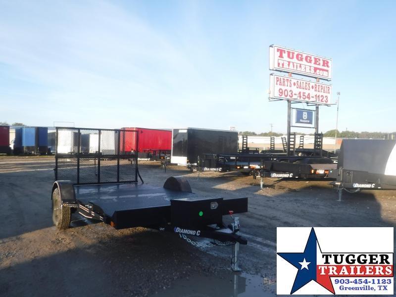 2021 Diamond C Trailers 77x12 12ft UVT Open Toy Side Work Tool Farm Equipment Utility Trailer