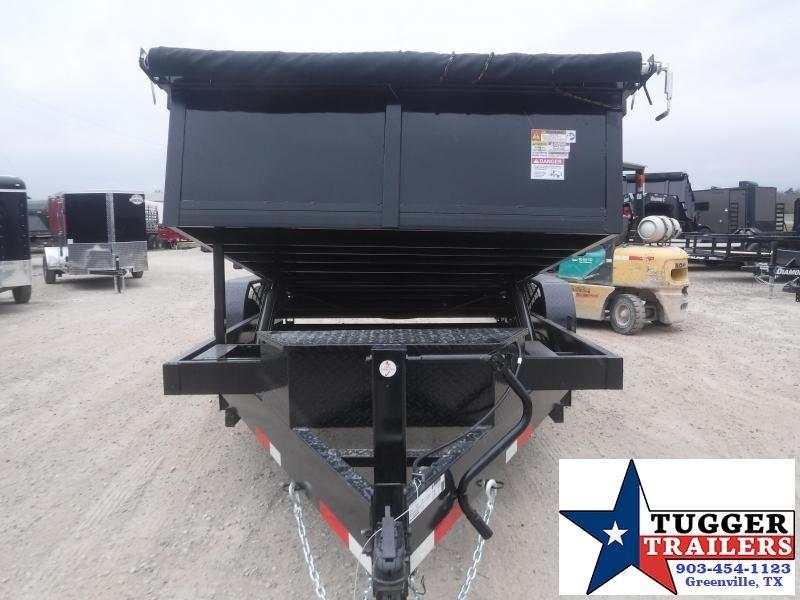 2021 Texas Pride Trailers 7x14 14ft Steel Heavy Duty Construction Equipment Dump Trailer