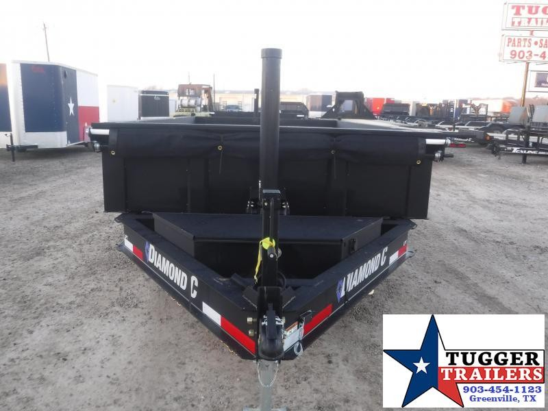 2021 Diamond C Trailers 82x12 12ft LPT Steel Heavy Duty Work Construction Dump Trailer
