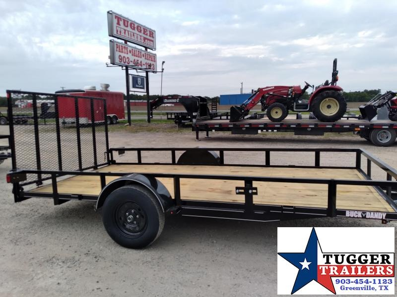 2020 Buck Dandy 83x14 14ft Flatbed Angle Top Toy Side Landscape Utility Trailer