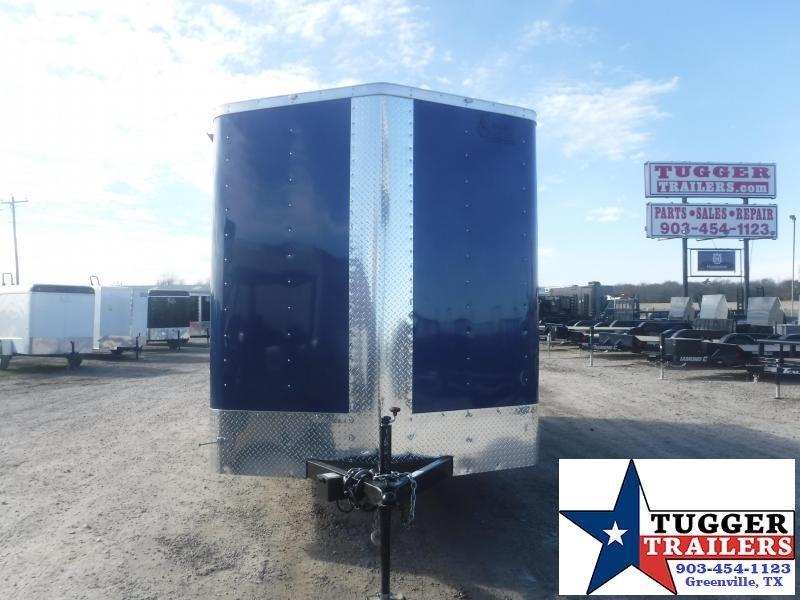 2021 Cargo Craft 7x16 16ft V-Nose Flag Texas Work Utility Tool Toy Enclosed Cargo Trailer