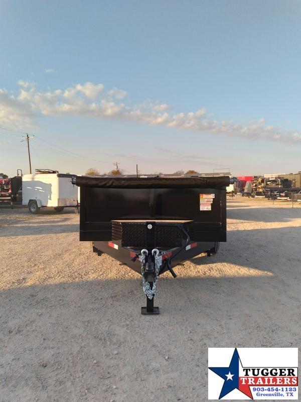 2021 Texas Pride Trailers 7x12 12ft Steel Heavy Duty Equipment Work Rock Dump Trailer