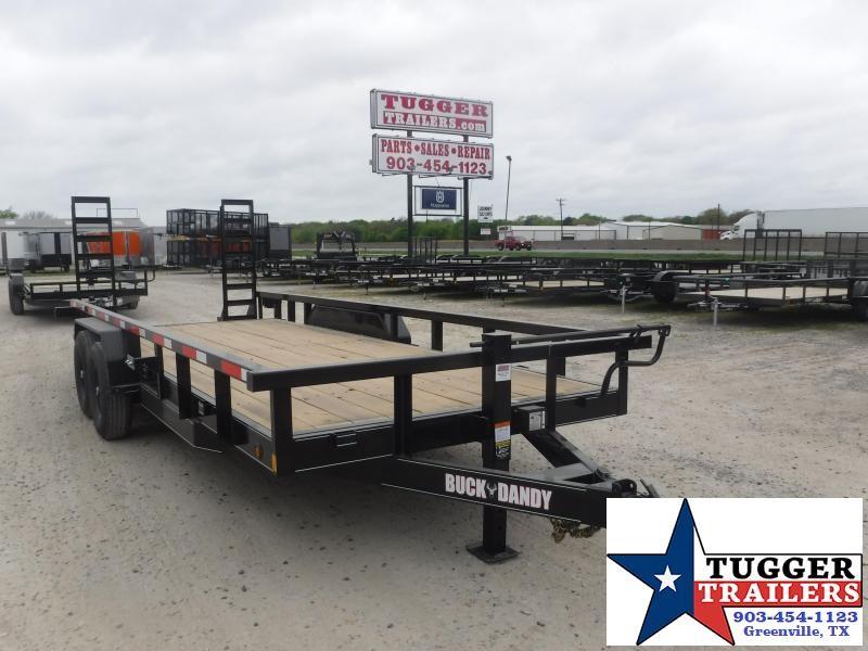2021 Buck Dandy 83x20 20ft Construction Utility Open Tool Farm Equipment Trailer