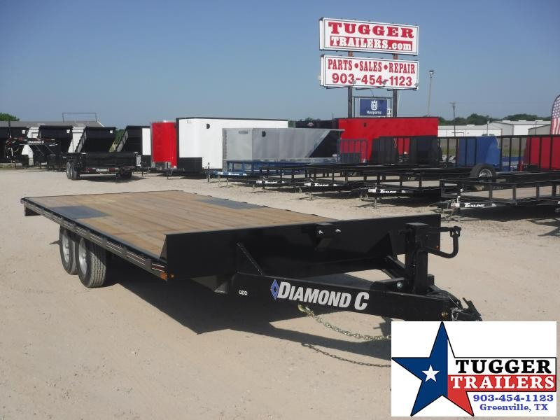 2020 Diamond C Trailers 102x20 20ft Steel Heavy Duty Work Construction Equipment Trailer