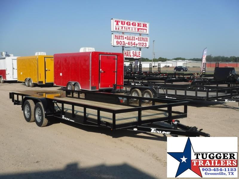 2019 TexLine 83x20 20ft Utility Open Ramp Flatbed Trailer
