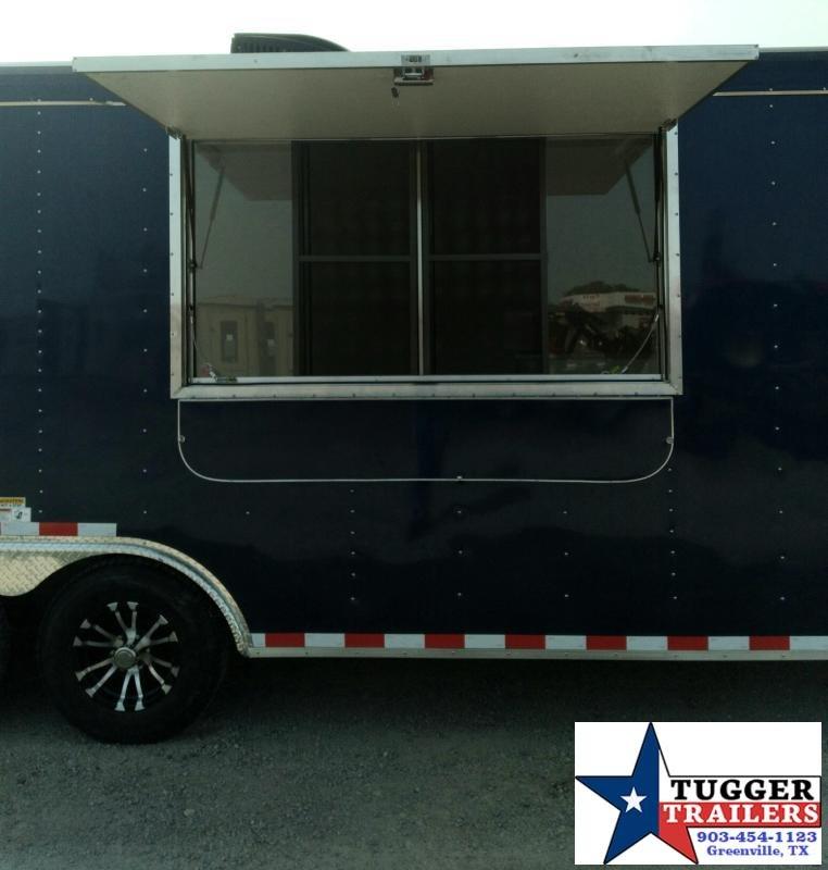 2021 Cargo Craft 8.5x22 22ft Porch Taco BBQ Street Ice Cream Snow Vending / Concession Trailer