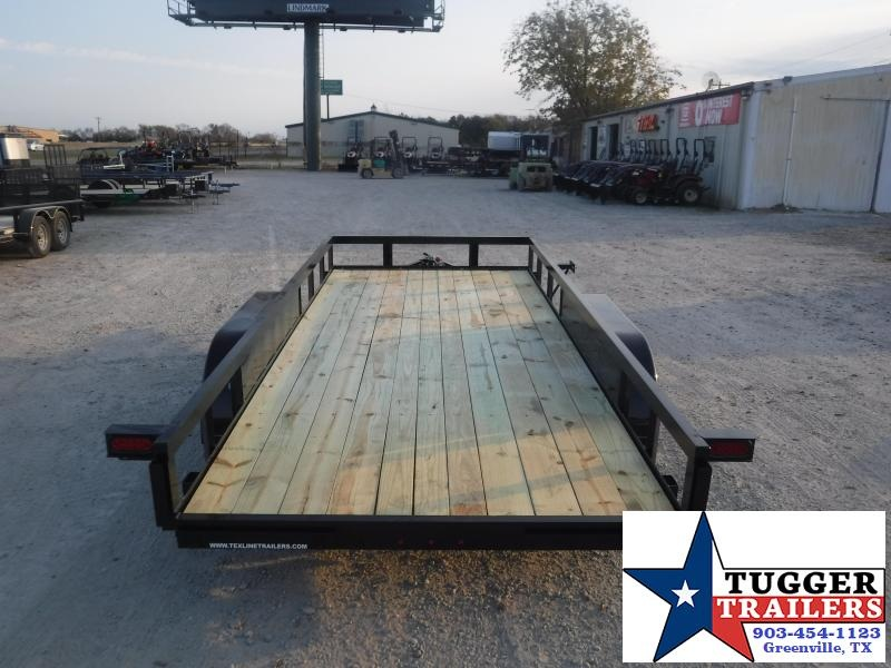 2021 TexLine 77x16 16ft Toy Side Work Equipment Tool Farm Move Utility Trailer