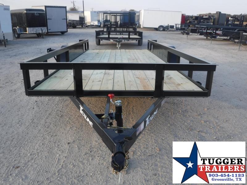 2021 TexLine 77x16 16ft Toy Side Work Equipment Tool Farm Move Utility Trailer