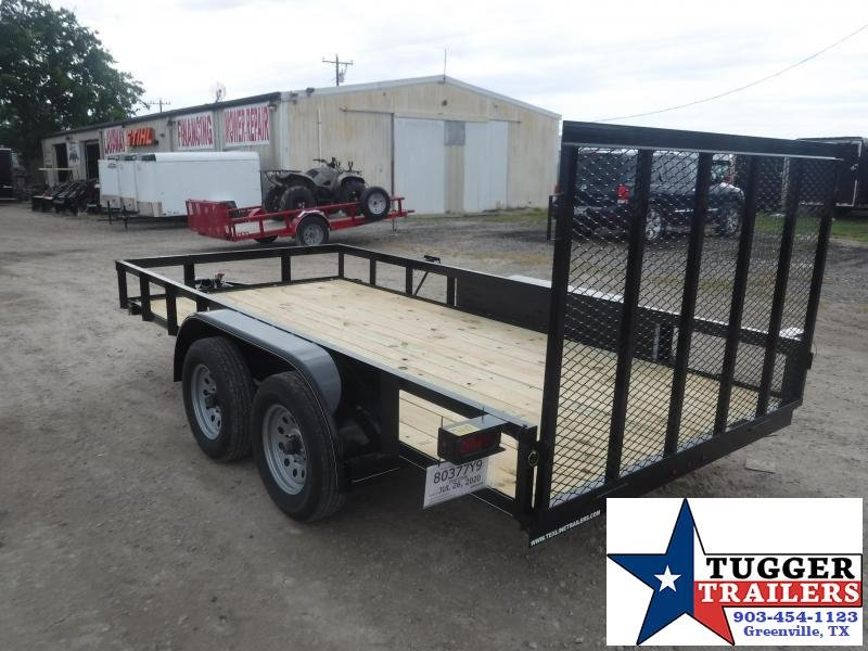 2020 TexLine 77x14 14ft Open Flatbed Equipment Toy Side Four Utility Trailer