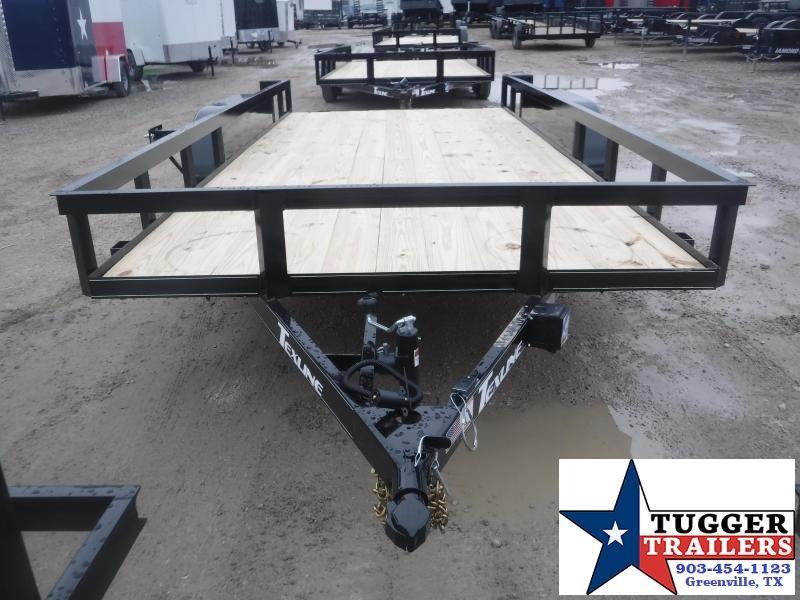 2021 TexLine 83x16 16ft Open Equipment Farm Work Side Lawn Utility Trailer