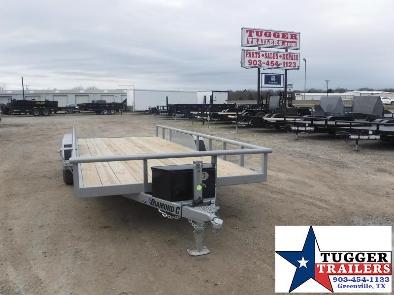 2021 Diamond C Trailers 83x18 18ft GTU Steel Heavy Duty Work Toy Side ATV Utility Trailer