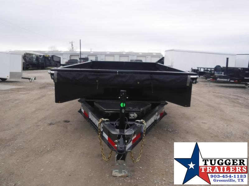 2021 Diamond C Trailers 96x14 14ft DOD Steel Heavy Duty Work Equipment Dump Trailer