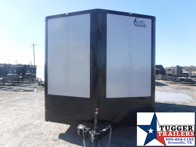 2021 Cargo Craft 8.5x16 16ft Plus 2' V-Nose Black Out Utility Work Enclosed Cargo Trailer
