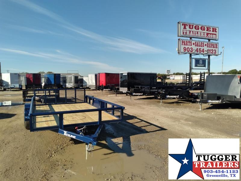 2020 TexLine 77x12 Flatbed Landscape Personal Utility Trailer