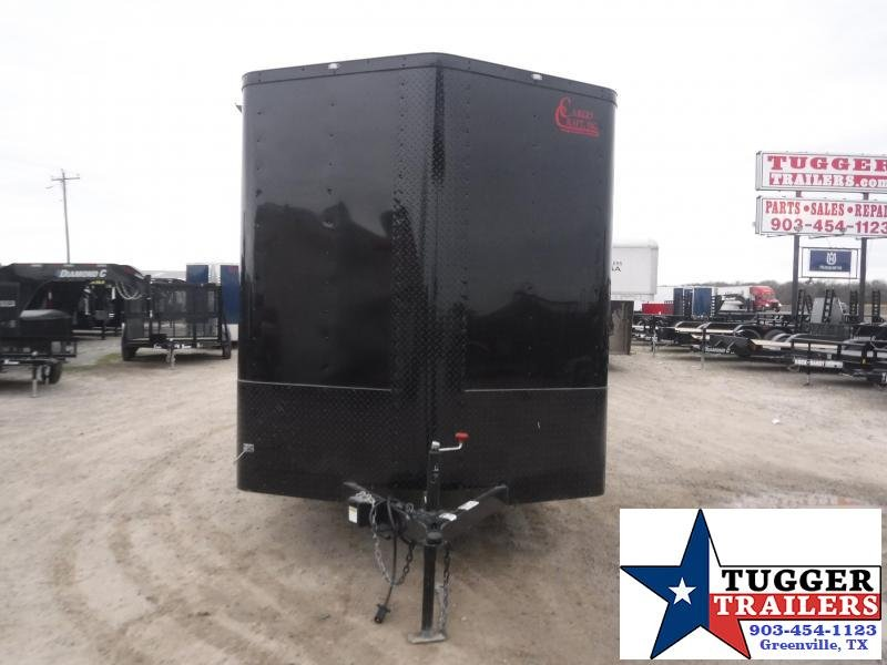 2021 Cargo Craft 7x14 14ft Utility Black Out Ramp Toy Side Work Enclosed Cargo Trailer