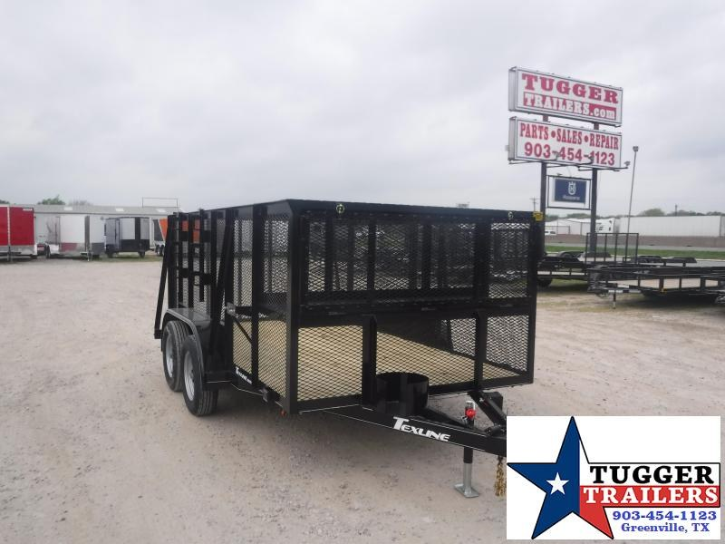 2021 TexLine 77X12 12ft Utility Work Mow Zero Weed Lawn Cage Landscape Trailer