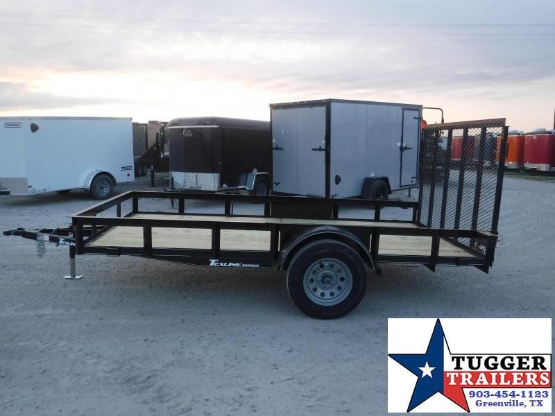 2021 TexLine 77x12 12ft Angle Top Toy Side Lawn Land Toy Work Utility Trailer
