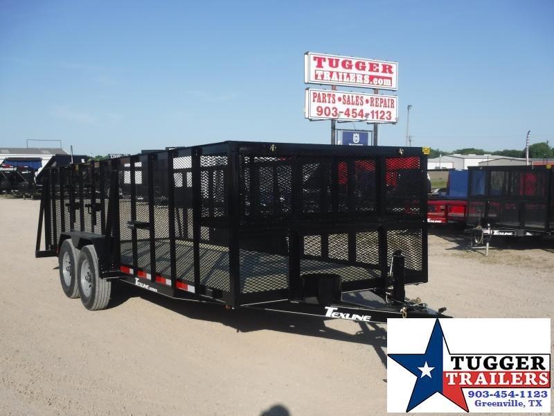 2020 TexLine 83x20 20ft Steel Landscape Lawn Zero Mow Yard Utility Trailer