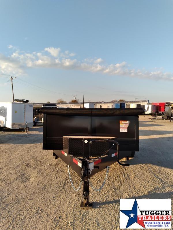 2021 Texas Pride Trailers 7x12 12ft Utility Steel Heavy Duty Farm Work Rock Dump Trailer