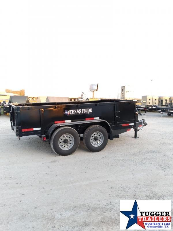 2021 Texas Pride Trailers 7x12 12ft Utility Steel Heavy Duty Farm Work Rock Dump Trailer
