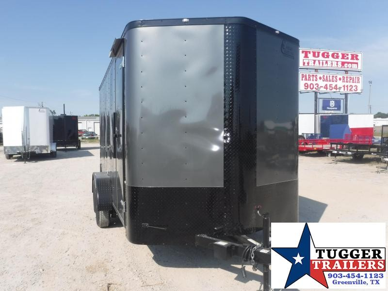 2020 Cargo Craft 7x14 14ft Black Out Ramp Utility Sport Toy Bike Enclosed Cargo Trailer