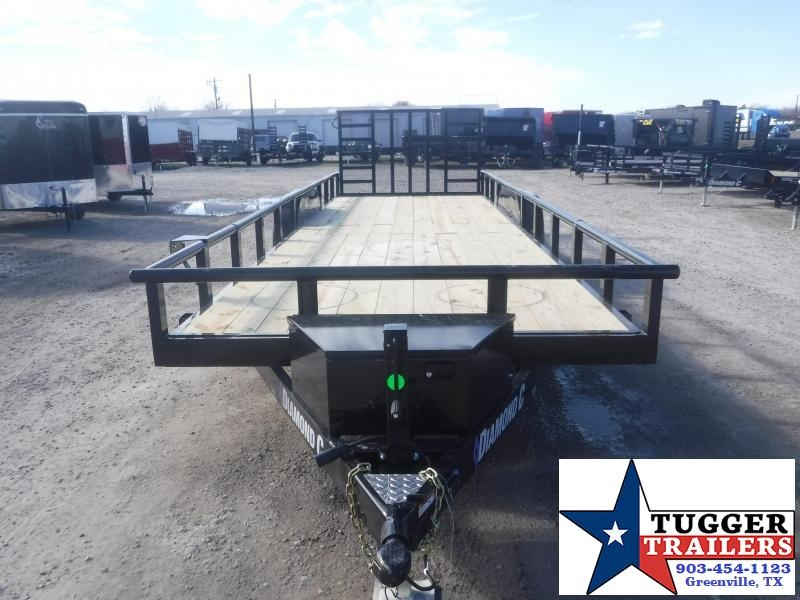 2021 Diamond C Trailers 82x24 24ft TUT Heavy Duty Side Toy Work Equipment Utility Trailer