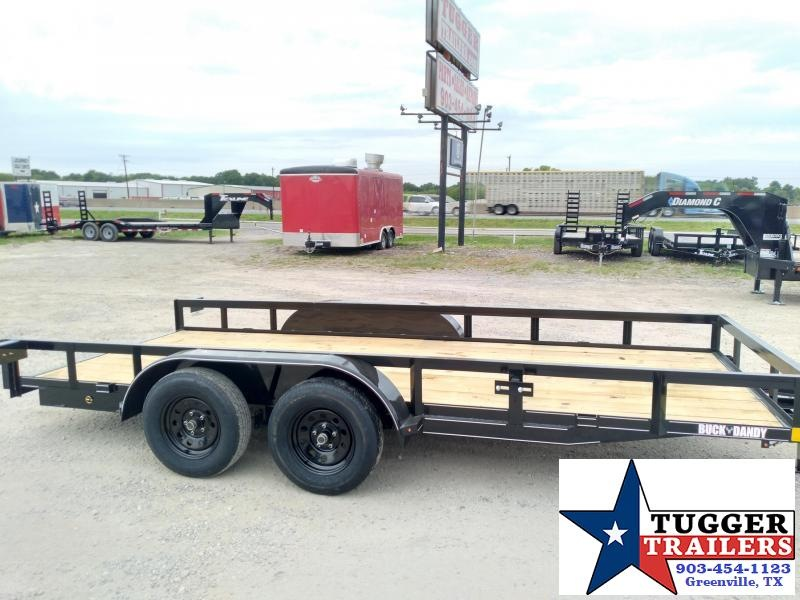 2020 Buck Dandy 77x16 16ft Open Angle Top Work Camp Move Travel Utility Trailer
