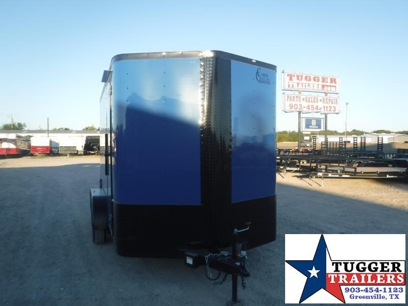 2020 Cargo Craft 7x12 12ft Elite V-Nose Black Out Ramp Utility Box Enclosed Cargo Trailer