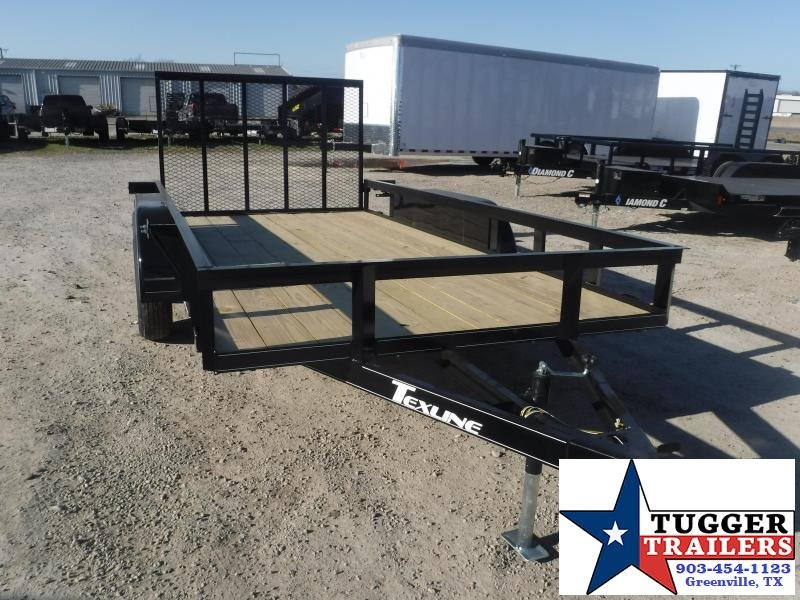 2021 TexLine 77x14 14ft Open Toy Side Work Tool Camp Hunt Mow Utility Trailer