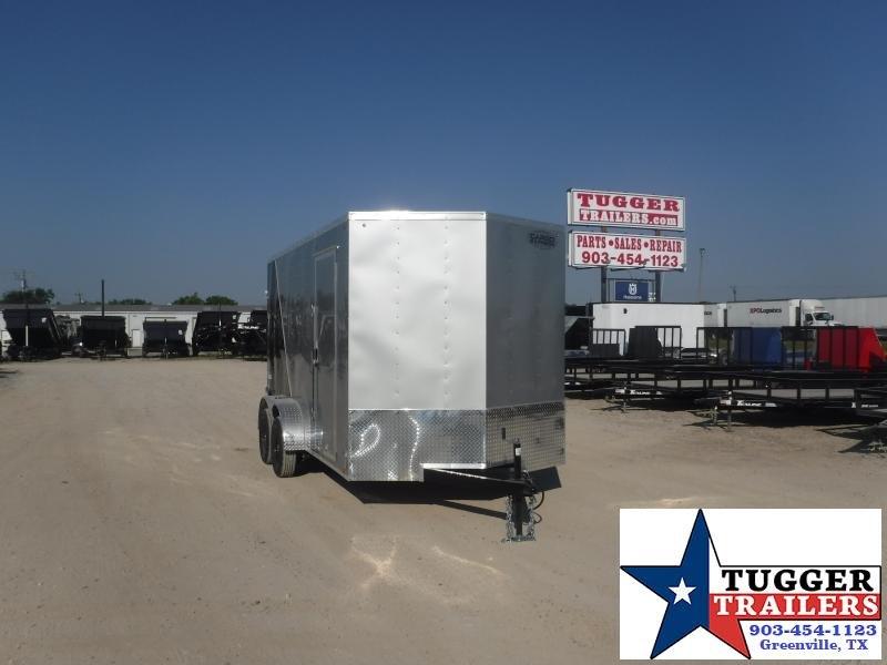 "2021 Cargo Express 7x14 14ft 18"" V-Nose Utility Box Travel Toy Moto Enclosed Cargo Trailer"