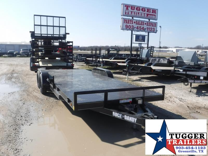 2021 Buck Dandy 83x20 20ft Auto Mobile Open Pipe Top Travel Move Car / Racing Trailer