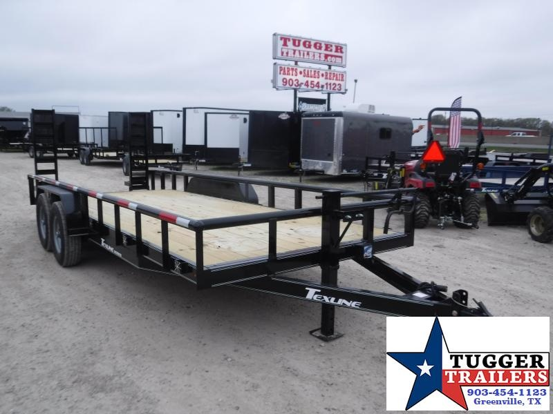 2020 TexLine 83x20 20ft Flatbed Pipe Top Bobcat Heavy Duty Equipment Trailer